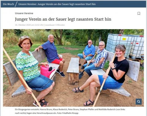"""Bericht Volksfreund """"Die Woch"""""""